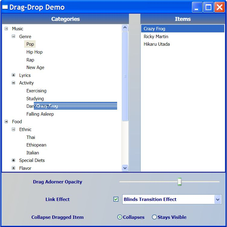Saucepos - Drag-and-Drop Manager for WPF